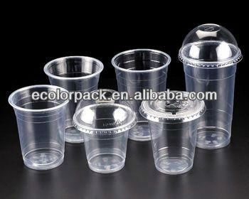 custom logo printed disposable pet plastic cup with lid $0.032~$0.085