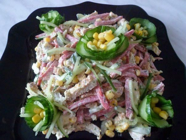 Delicious and simple salad.