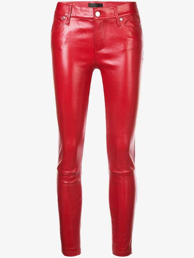 7cb665da7a2e RtA Prince crop skinny trousers in 2019 | clothes | Red leather pants,  Trousers, Britney spears costume