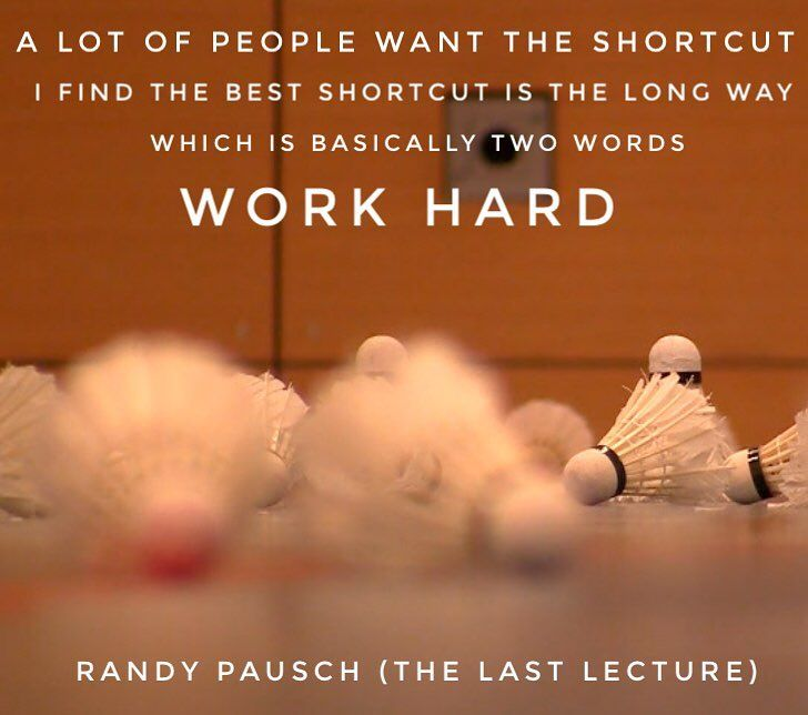 "Hard work beats talent if talent does not work hard their are no shortcuts not in business sports - wether if you're competing going for your summer or ""just"" exercising for yourself or even life - the quote in the picture is another of my favorite ones from Randy Pausch's Last Lecture. If you haven't read the book yet get it our check out the lecture for free via YouTube just google ""Randy Pausch"" - this will definitely change some of your views and thoughts - incredible man. #quoteoftheday…"