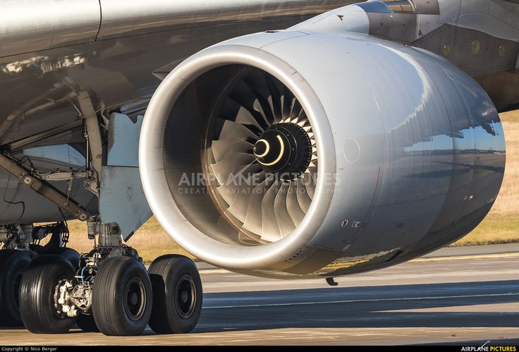 A closeup shot of a Rolls Royce Trent 900 as seen on a taxiing Lufthansa Airbus A380-841 (registered D-AIMM) Frankfurt