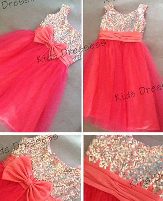 Ball gowns organza with bow  flower girl dress by kidsdresses