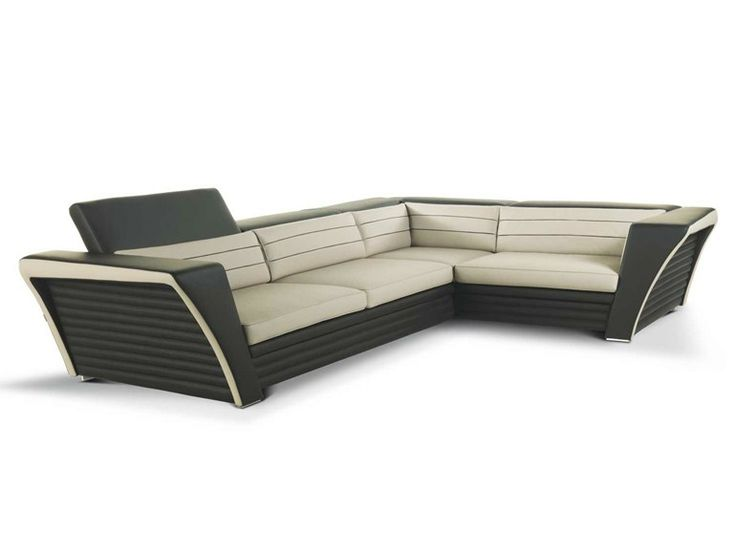 Corner Leather Sofa With Headrest | Formenti