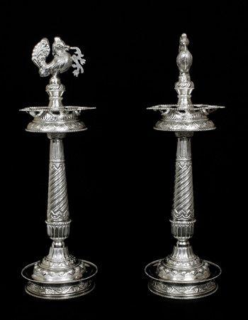 Silver Lamp/Diya