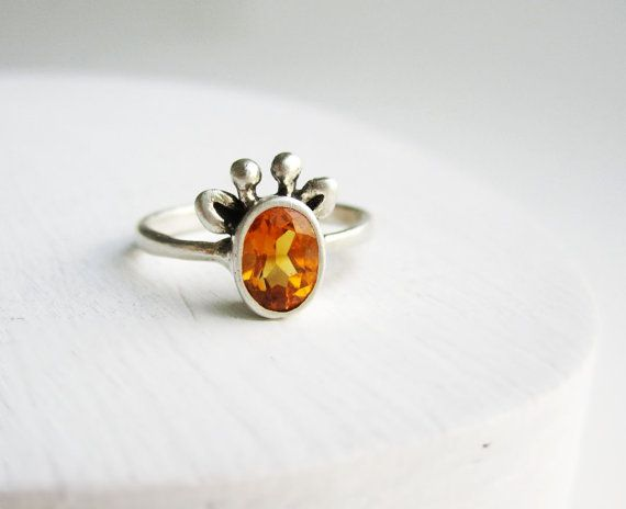 Yellow Giraffe Ring Citrine and Sterling Silver by EveryBearJewel, $79.00  @Kasey Mitchell