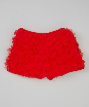 Look what I found on #zulily! Red Ruffle Shorts - Toddler  Girls by Sweet Cheeks #zulilyfinds