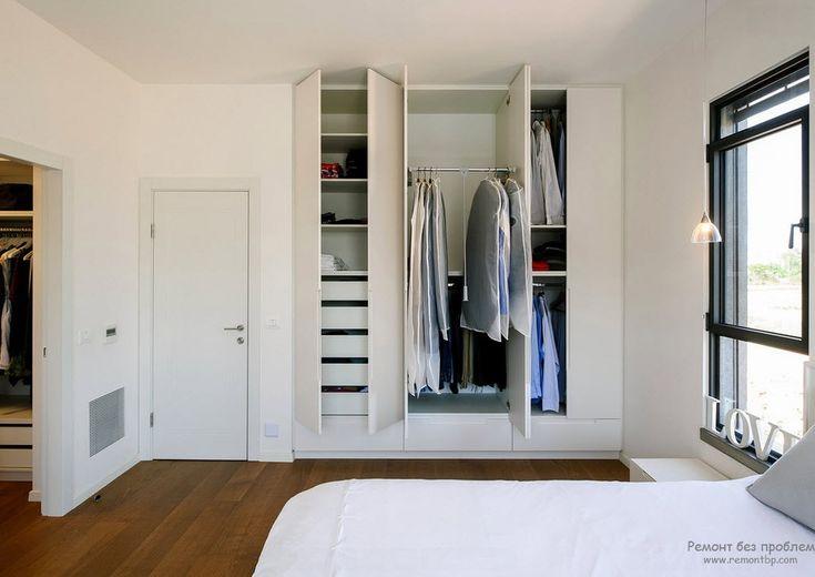 Интерьер спальни со встроенной гардеробной