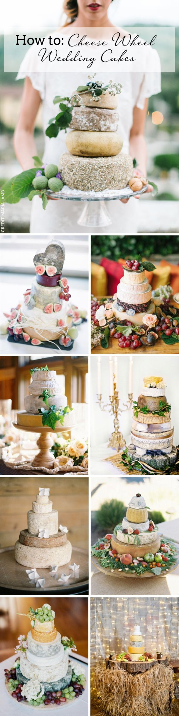 How to DIY a Cheese Wheel Wedding Cake | SouthBound Bride | Full credits & links: http://www.southboundbride.com/how-to-cheese-wheel-wedding-cakes