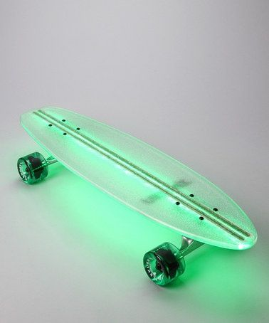 Green Lighted Skateboard from Flexdex: Such a great idea! Longboarding on a nice night is perfect and this would make it easier for you to see the road and for cars to see you. Very cool idea.
