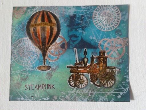 Steampunk - Collage Card