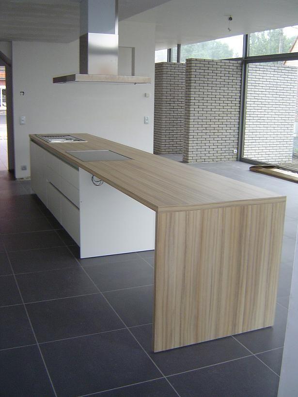 Keuken Met Kookeiland En Tafel : Eiland Tafel op Pinterest – Kookeiland Tafel, Keukens en Kookeilanden