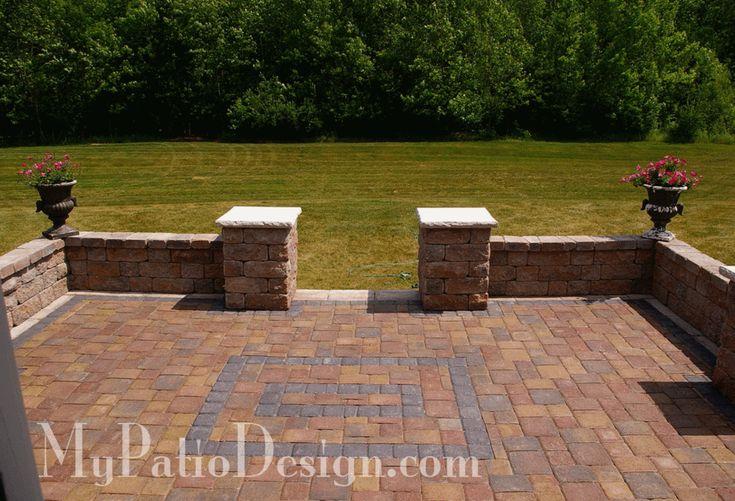 Symmetrical Seat Wall Ideas 2 Slate Patios Wall