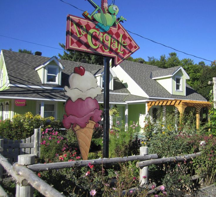 LaCigale Chelsea, Quebec - The perfect place to enjoy delicious ice cream while chilling in a beautiful garden