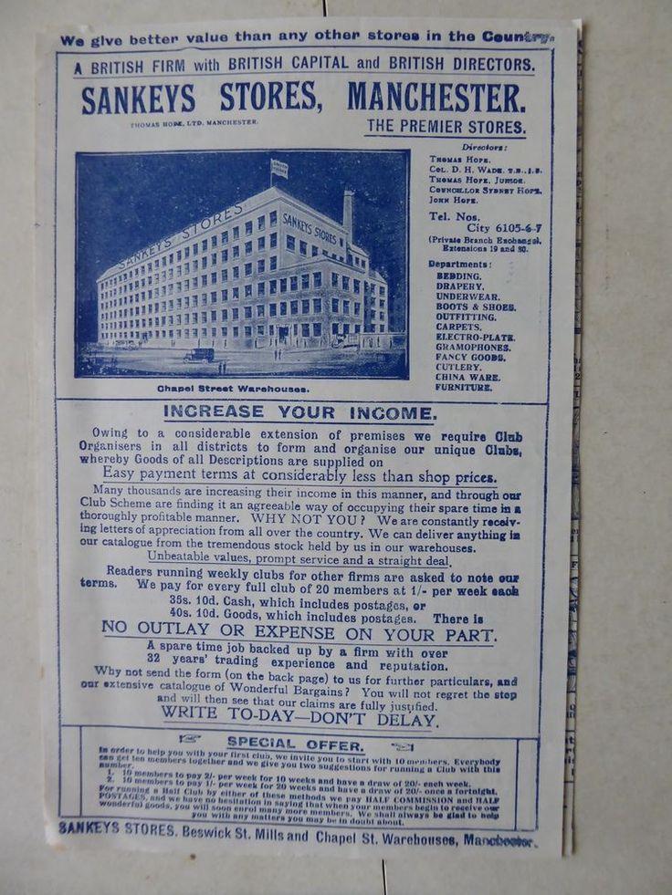 Sankeys Stores Manchester The Premier Stores -  Catalogue / Club Request Form