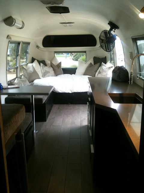 Airstream - not the biggest fan of motor homes, but this actually looks kind of cozy/chic... I'll take it!
