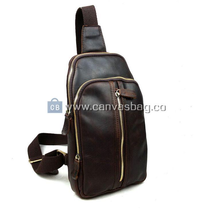 Sling Backpack | Genuine Leather Canvas Bag Wholesale