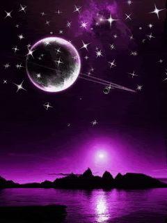 Purple Fantasy Moon