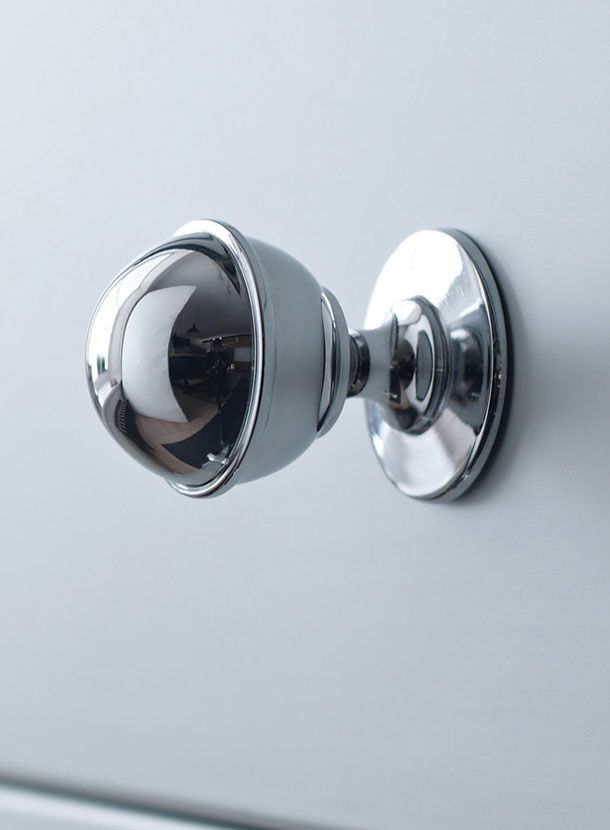 Solid Brass With Chrome Plating Classic Knob With Ring Detail