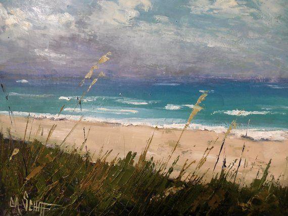 Beach Giclee Print Coastal Canvas Art Florida Landscape Print Of