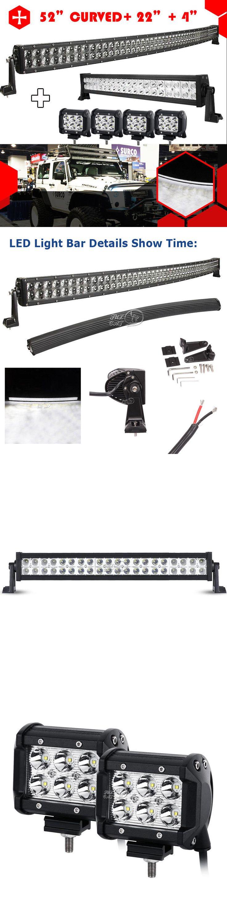 Rocker switch zombie lights led light bars amp off road lighting - Car Lighting 52inch 700w Curved Led Light Bar 22 280w 4 18w Offroad