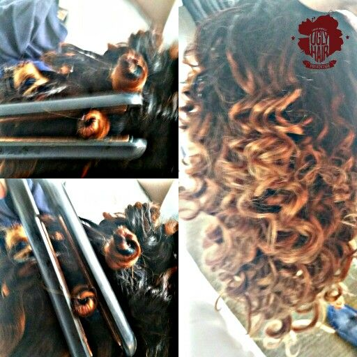 Easy and quick bantu knot curls on ombre Mayvenn brazilian hair.Can be used on any weave,relaxed,or blownout natural hair.