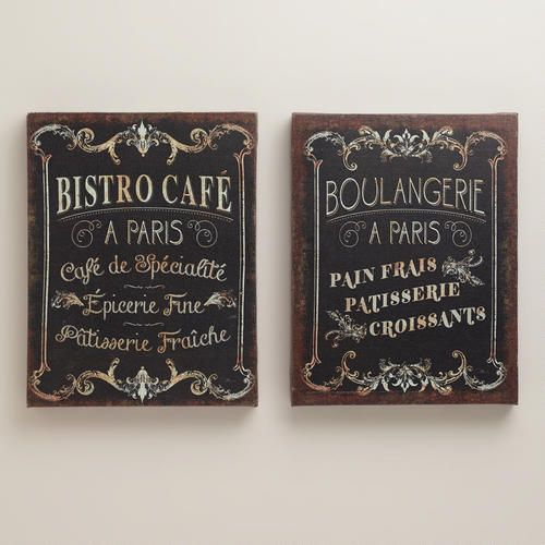 One of my favorite discoveries at WorldMarket.com: Parisian Signs, Set of 2