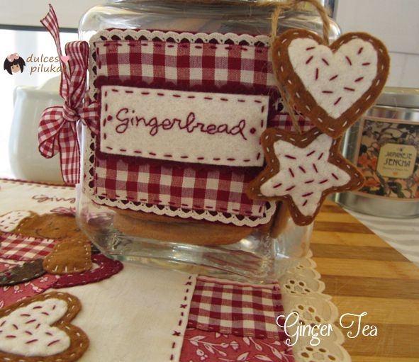 Cartel tarro galletas. Taller Online Ginger Tea