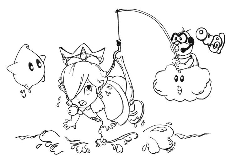 Super Mario Bros Coloring Picture See More Baby Rosalina OUPS By JadeDragonne On DeviantArt