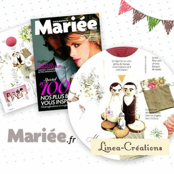 Lineacreations est mis à l'honneur dans la nouvelle parurion du célèbre magazine Mariée.fr ! C'est une immense surprise et une grande fierté :-) #caketoppers #mariage #wedding