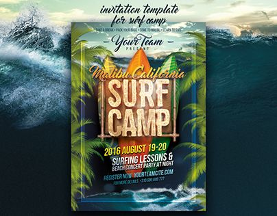 "Check out new work on my @Behance portfolio: ""Surf Camp Poster Template"" http://be.net/gallery/41338049/Surf-Camp-Poster-Template"