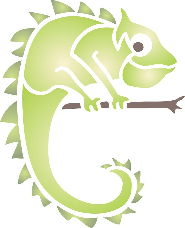 """Chameleon Stencil - (size 3""""w x 3.5""""h) Reusable Wall Stencils for Painting - Best Quality African Wild Animal Ideas - Use on Walls, Floors, Fabrics, Glass, Wood, Terracotta, and More. Stenciling is one of the easiest and CHEAPEST ways to decorate - update your look by using different colors, motifs and patterns. ECONOMICAL alternative to wallpaper and decals - you only need to buy one and you can cover a whole wall. Suitable for use with ANY TYPE OF PAINT and any stenciling method - use 1..."""