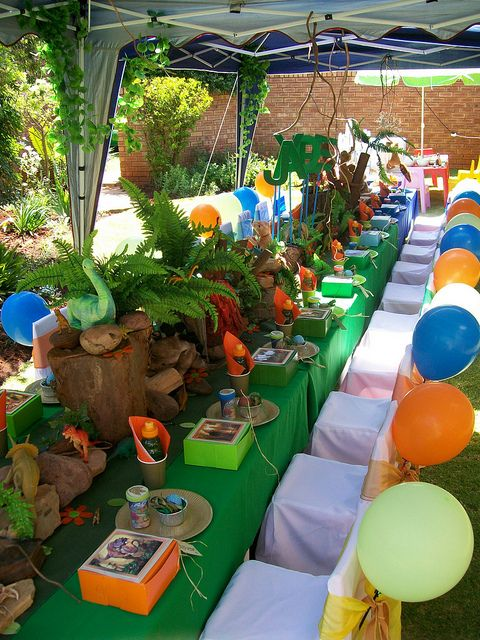 """""""The Land of the Dinosaurs...."""" by Treasures and Tiaras Kids Parties, via Flickr"""