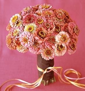 If Coral Pink Palette October Flowers Wedding Decor Los Angeles Zinnia
