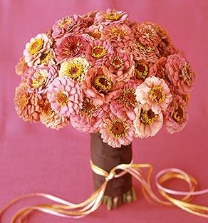 October Flowers :  wedding decor flowers los angeles Pink Zinnia