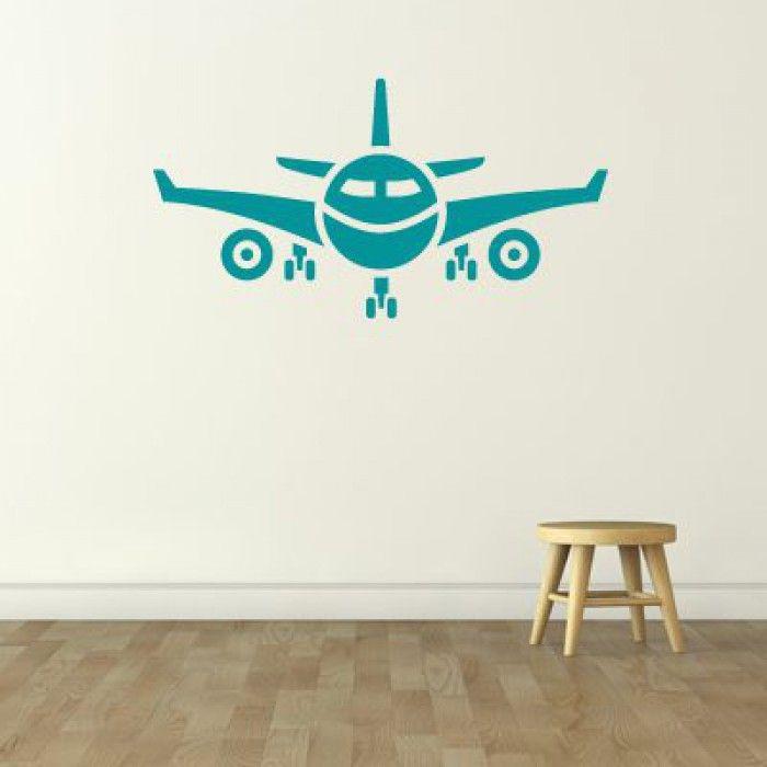 Muursticker vliegtuig op de muur | KidZstijl.nl