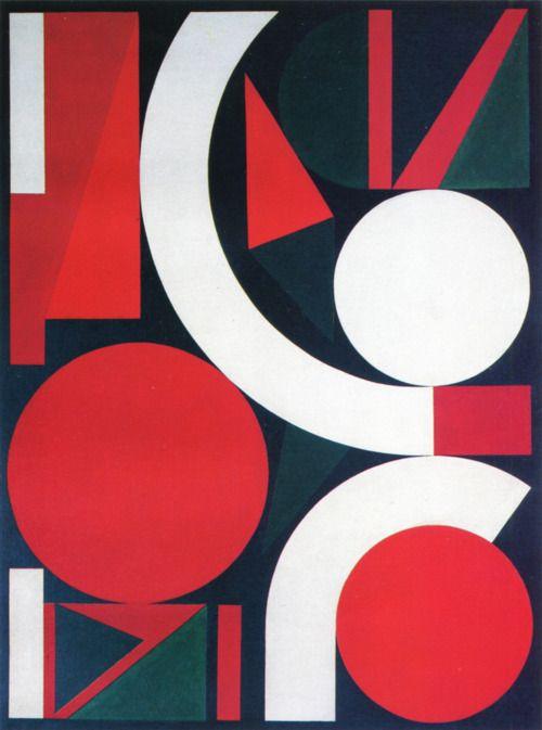 eparis:  Auguste Herbin,Jump, 1958. Oil on canvas, 130 x 97cm. MAC, Caracas.