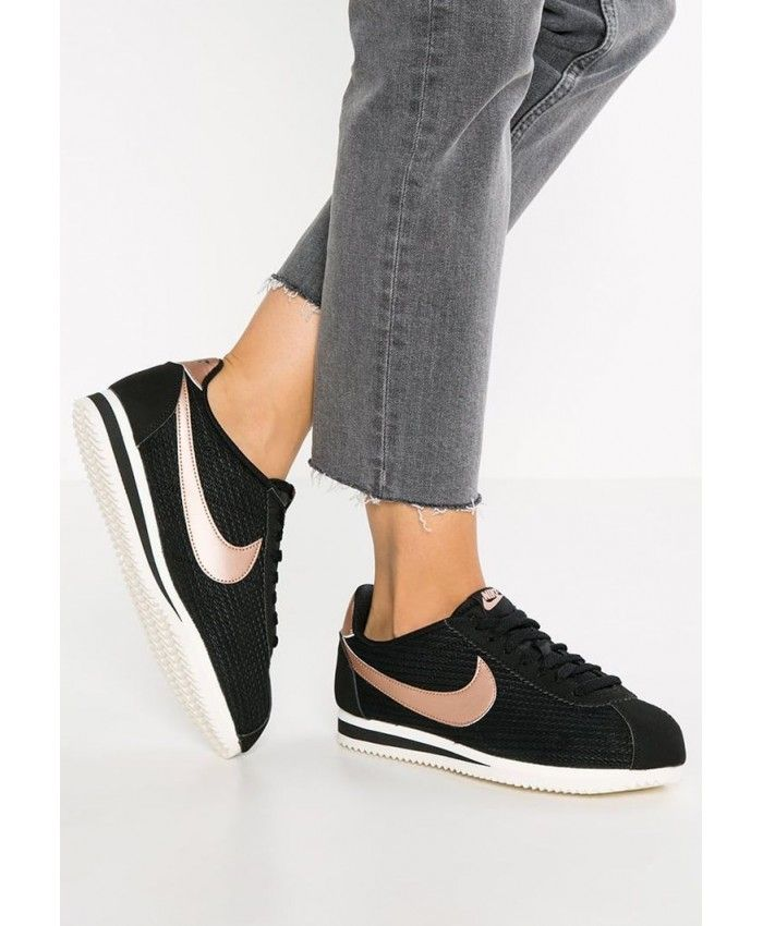 low priced 7040f 6cbbb Femme Nike Classic Cortez Noir Rose Gold