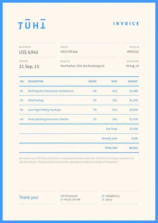7 best Invoices images on Pinterest Invoice design, Invoice - web design invoice