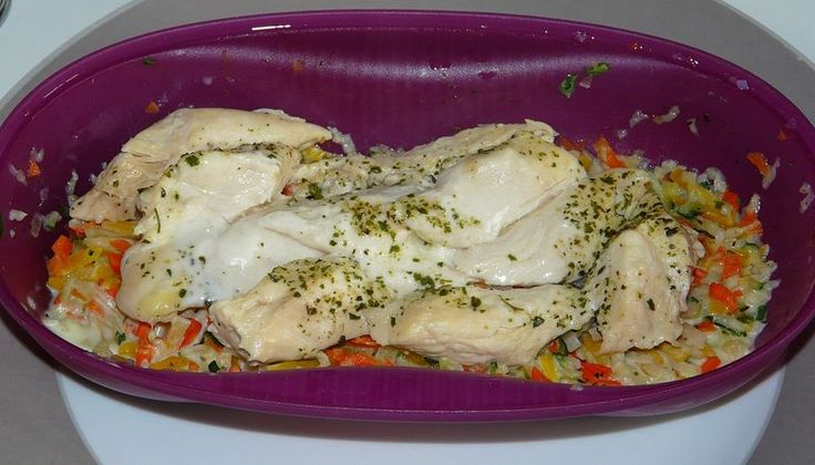 Poulet à la julienne de légumes et à la crème - Cuiseur Solo Tupperware - WW
