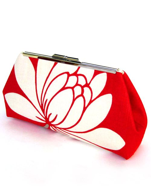 DIY Mother's Day Gift: Create mom a clutch that she can take with her during brunch or any day. Use colorful and patterned fabric (like shown) to a pop of color to any outfit. Take it a step further and surprise mom with a personalized label on the bag's interior to let her know how much you love her.