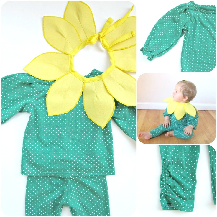 homemade by jill: comfy dress up: baby sunflower costume