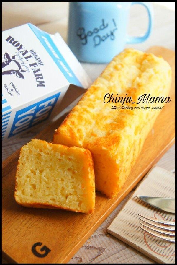 簡単【混ぜて焼くだけ&牛乳パックで♩】モチふわ♡チーズパウンド