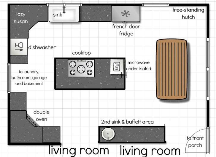 Modern Kitchen Floor Plan 13 best kitchen plans images on pinterest | kitchen ideas, kitchen
