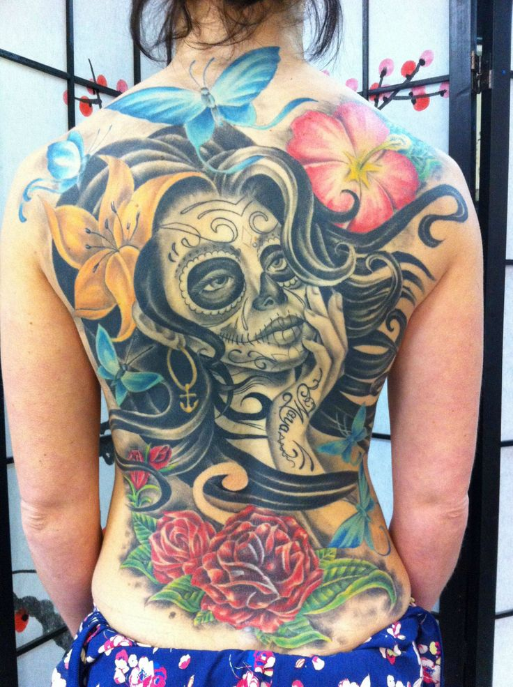 339 best day of the dead girls images on pinterest cool tattoos gorgeous tattoos and. Black Bedroom Furniture Sets. Home Design Ideas