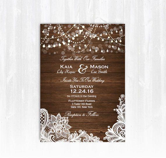 1000 Ideas About Wood Wedding Invitations On Pinterest Wood Invitation La