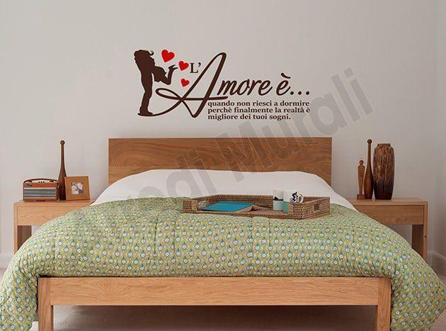 Stickers Murali Camera Da Letto.Adesivi Murali Frase Amore Decorazioni Camera Da Letto Ws1425