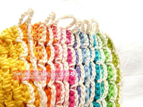 Crochet triangle bunting tutorial by Carina » Polka & Bloom, via Flickr