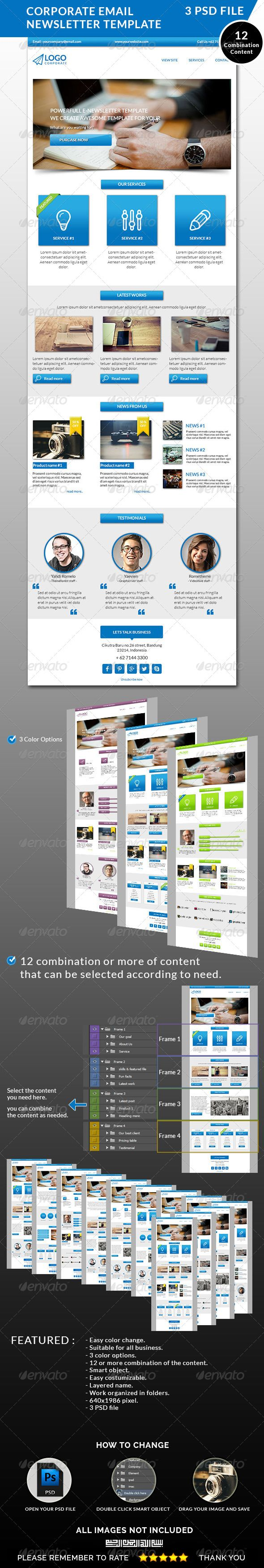 Corporate Email Newsletter Template #email #newsletter #corporate #template #promotion #emailtemplate #marketing #offer #webmarketing #psd #graphicriver #yahdiromelo #rometheme #yaevien