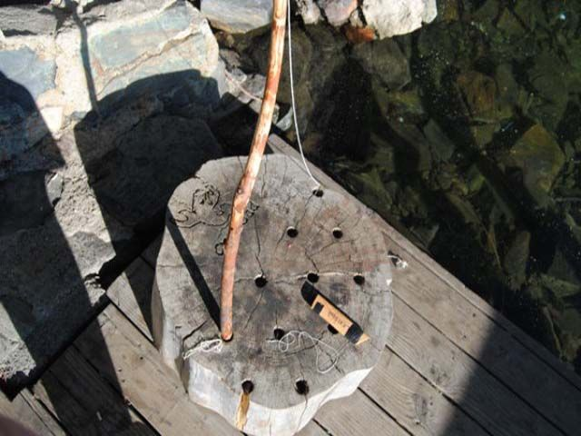Build a Summer Camp Fishing Pole Holder