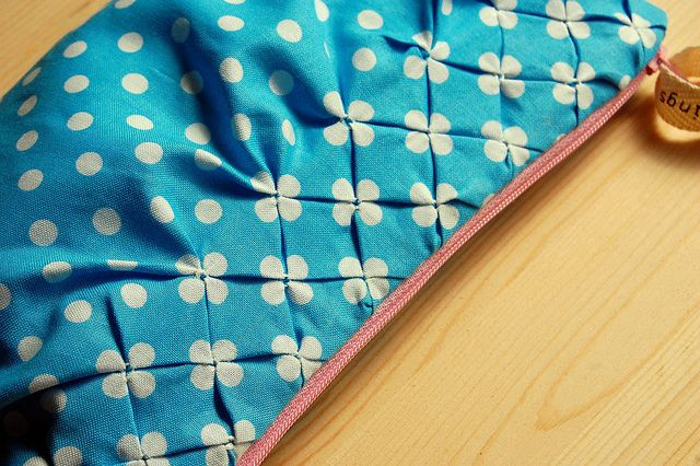 Smocking polka dot fabric... so cute!